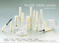 pearly white mascara container
