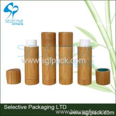 Bamboo lip balm container