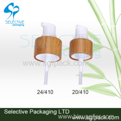 Bamboo lotion pump cap