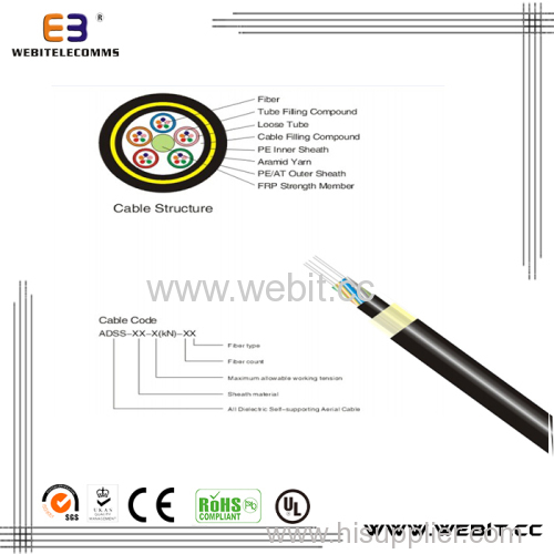 All dielectric self-supporting aerial cable(LC-ADSS)