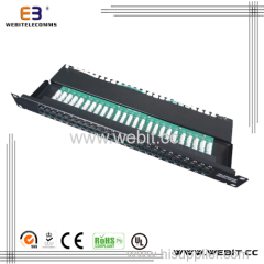 50 ports Data&voice patch panel