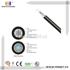 Standard loose tube Non-metallic strength Member light armored cable(LC-GYFTA)