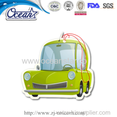 New design hanging car paper air freshener custom promotional items