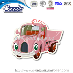 New design hanging car paper air freshener wholesale promotional items