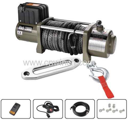Electric winch 12000lbs rope winch DC12V/24V