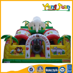 Elephant Jungle Inflatable Slide