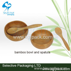 Bamboo bowl and spoon for mask