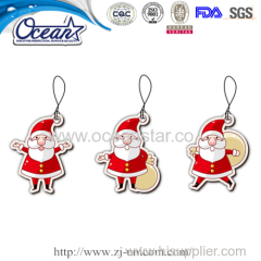 Santa shape air freshener car used paper promotional gift