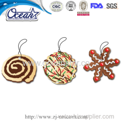 Cute Biscuit Hanging Car Paper Air Freshener Promotional