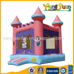 Romantic frozen inflatable princess bouncy castle