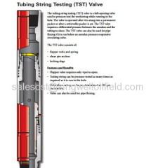 Drill Stem Testing Tools Tubing String Testing (TST) Valve