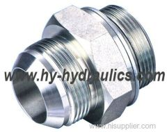 JIC MALE 74 CONE/ORFS MALE CARBON STEEL HYDRAULIC HOSE FITTING