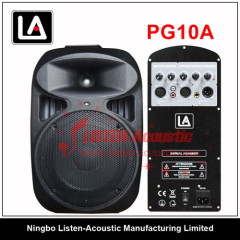10inch 2 way Professional Plastic Audio speaker boxes PG10 / 10A