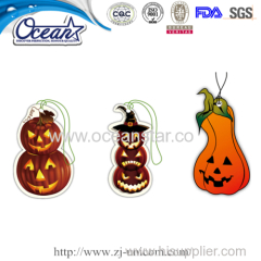 jack-o'-lantern for Halloween hanging car paper air freshener promotion items