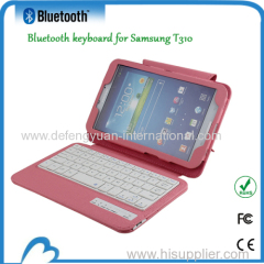 Flip Stand Leather Case for SamSung T310 with bluetooth keyboard