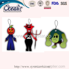 Ghost for Halloween hanging car paper air freshener promotion items