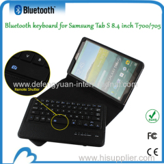 Leather Protetive Wireless Bluetooth Keyboard for Samsung Tab S 8.4 inch