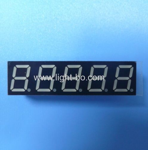 Custom Super Red 0.39  5-Digit 7 Segment LED Display for Instrument Panel .