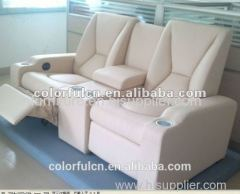 Cream leather lazy boy recliner chair /decoro leather sofa recliner With Writing Pad Function