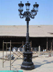 Cast iron street lamps