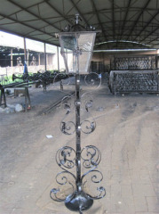 Garden cast iron lamp post
