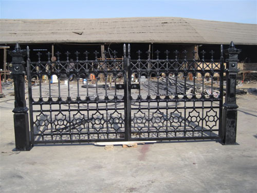 decorative casting entrance iron gate