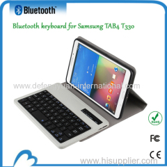 Detachable Leather Case with bluetooth keyboard for for Samsung