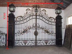 Wrought iron gates garden gate