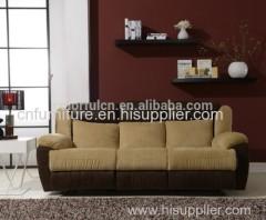 Leather+Super Velvet Recliner Sofa/Recliner Velvet Sofa/Recliner Sofa Velvet