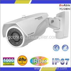 SONY1000 TVL Waterproof Metal bullet IR Camera