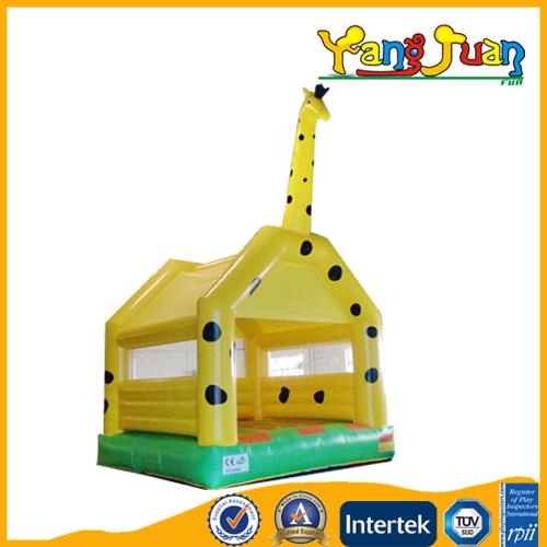 yellow giraffe inflatable bouncer