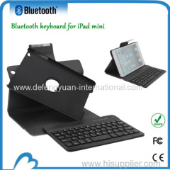 PU leather case with bluetooth keyboard for ipad mini