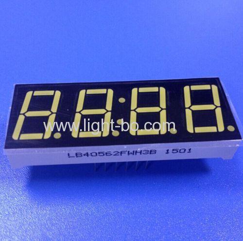 Ultra white 0.56 inch 4 digit 7 segment led disdplay for clock indicator