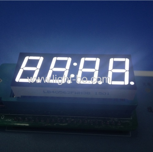 "4 digit 0.56 inch led clock display; 0.56 inch white 7 segment ;0.56"" white led display"