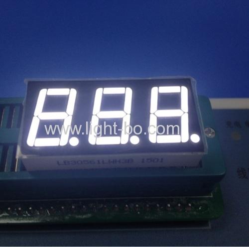 Ultra white 3 digit 0.56  7 segment led display for digital indicator