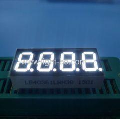 0.36inch 4 digit white;white 0.36inch 7 segment;0.36inch 4 digit 7 segment led display