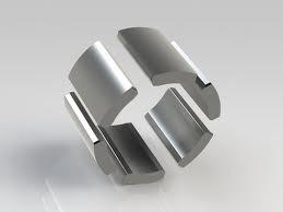 Sintered n42 half ring neodymium magnet