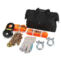 recovery kit for offroading incl. shackles and tree trunk protectors...
