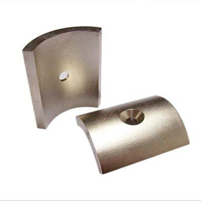 Permanent sintered ndfeb magnet with hole