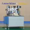 thermal break assembly knurling machine with strip feeding for aluminum profile