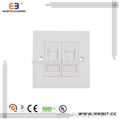 Face plate 1 port ou 2 ports UK type taille 86x86mm