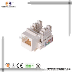 110 type 90 degree UTP cat6 keystone jack