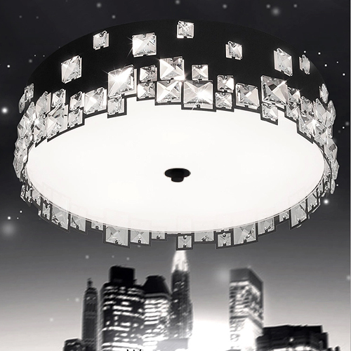 Jane creative black&white metal bedroom crystal ceiling lights for selling