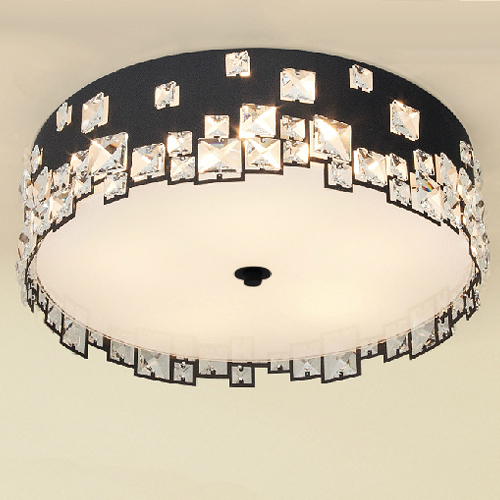 Jane creative black&white metal bedroom crystal ceiling lights for selling