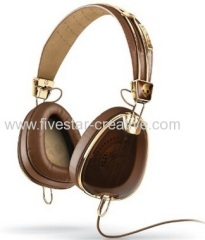 Skullcandy X Roc Nation Brown and Gold Over Ear Headphones with In-line Mic3
