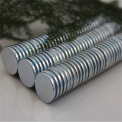 Rare Earth Zinc Coated N40 Disc Permanent Magnet