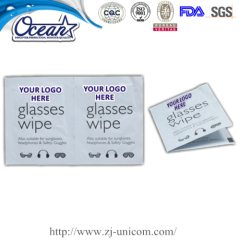 Individual glass wet wipe useful promotional items