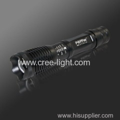 Recharge Aluminium 450 lumens CREE XM-L T6 flashlight high power led torch light