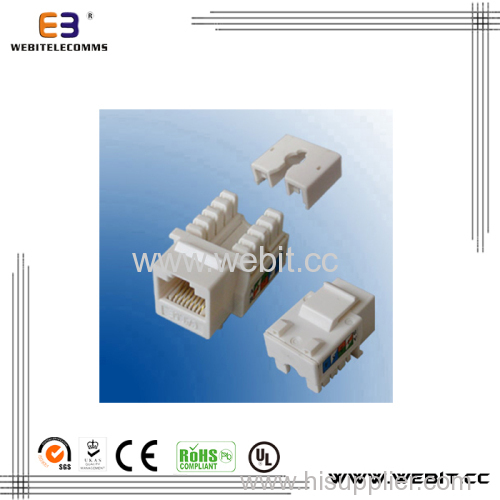 Dual type cat5e keystone jack with cover