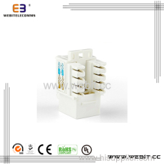 Dual IDC 90 degree UTP cat6 keystone modules